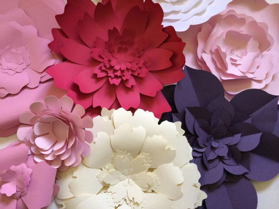Wall Decoration Paper Flowers : Unavailable listing on etsy