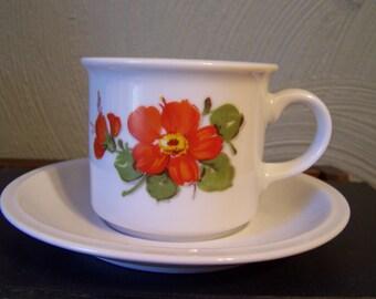 Vintage Bavarian Tea Cup & Saucer, Winterling, Roslau, Cottage Chic, Tea Party, Shower Gift