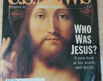 Vintage U.S. News & World Report - 1993 - Who Was Jesus?