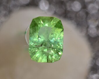 Mint Green tourmaline 8.5 x 6.5 Cushion 2.02 carats Grade A