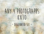 Choose any 4 8x10 photographs - 20% off - custom print set - any four 8x10 pictures