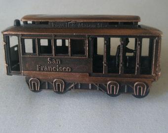 Vintage Die-Cast Miniature Cable Car Pencil Sharpener