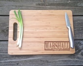 WOODEN Cutting Board Engraved Personalized Family Last Name BAMBOO Cutting Board 13 X 9.75 X .5 Wedding Gift Hostess Gift Christmas Gift