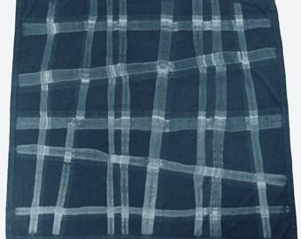 Cotton indigo shibori tablecloth