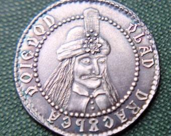 Silver Vlad tepes Dracula coin. .999 silver coin