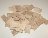 """Ash  wood Tiles blanks for decoupage ( lot of 50 )- (1,97x1,18"""" diameter x 0,20"""" thick)"""