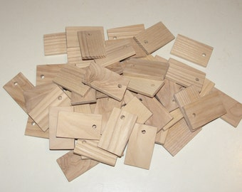 "Ash  wood Tiles blanks for decoupage ( lot of 50 )- (1,97x1,18"" diameter x 0,20"" thick)"