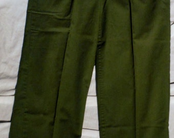 Vintage US Military 1984 Glenn Berry Inc Ideal Zip Fly 30 X 29  Polycotton Og 507 Utility Fatigue Pants (20 % DISCOUNT APPLIED)