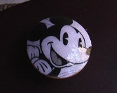 Handmade Knob Drawer Pull Mickey Mouse  Dresser Cabinet Knob Pull Switch Plate Covers to Match in Shop