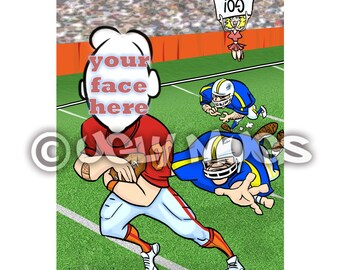 Custom Football Player Caricature from Photos