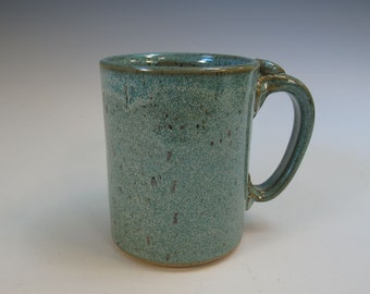 Large Frosty Blue-Green Mug Stein - Beer Coffee Tea - Holds 17 ounces