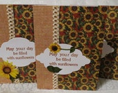 Handmade May Your Day Be Filled with Sunflowers Note Cards Set of 6