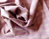 Tartan Plaid Flannel Suiting Fabric 100% Cotton Mauve Rose Sage Plum 2390 HALF YARD (45 cm)