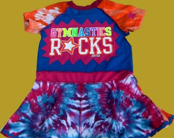 Upcycled Gymnastics Dress Girls Size 4/5T