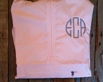 Lightweight Monogrammed Pullover Rain Jacket Pink Blue Black