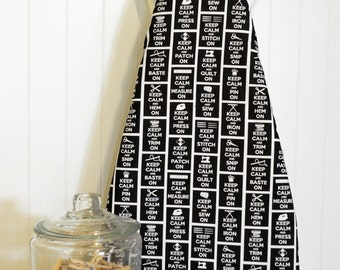 NEW!  Ironing Board Cover - Timeless Treasures Sewing & Knitting Sewing Stripe Black