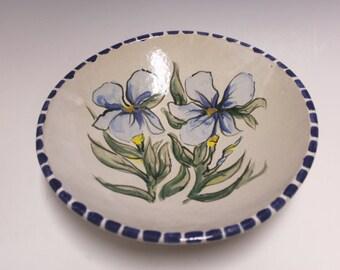 Stoneware Majolica Iris Bowl A