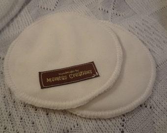 Organic Bamboo Cloth Waterproof Nursing Pads - Natural Breastfeeding - White D265