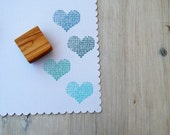 Knitted Heart  Olive Wood Stamp - Choice of 3 Sizes