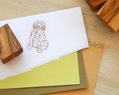 Cockapoo Olive Wood Charity Stamp