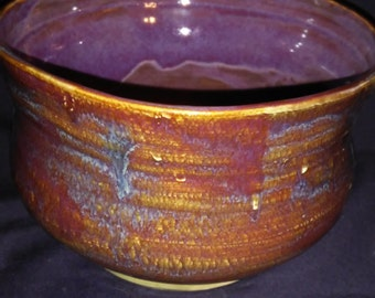 Serving Bowl with Multicolored Glazing