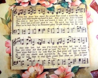 Amazing Grace on vintage board