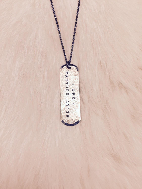 long dog tag custom engraved dog tag necklace. Black Bedroom Furniture Sets. Home Design Ideas