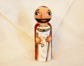 Saint Kilian Wooden Toy - Catholic Saint Doll - Made to Order
