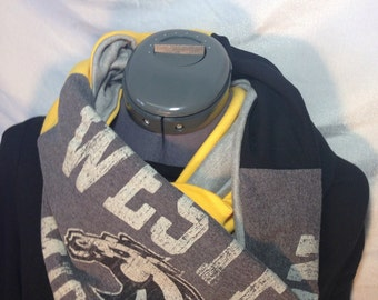 Western Michigan Recycled T Shirt Infinity Scarf