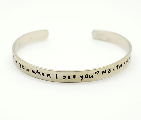 Personalized Cuff Bracelet,  Mommy Bracelet, Hidden Message, Custom Bracelet, Wedding, Keepsake, Mother,