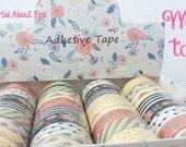 Peach and Mint Washi adhesive tape