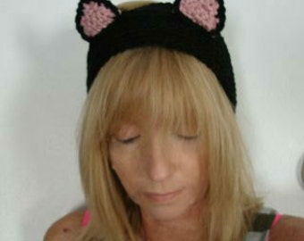 Crochet Cat Ears Head Band