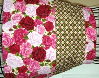 Teacher Apron - Crafter Apron - Gardening Apron - Vendor Apron - Three Pocket Apron - Roses - Retro Apron