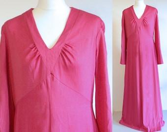 1970s maxi dress, 70s maxi dress, vintage maxi dress, 1970s dress, vintage pink dress, vintage dress, long dress, 70s dress, evening dress
