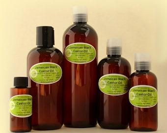 8 OZ Pure Jamaican Black Castor Oil Super Potent Strengthen Grow & Restore Hair Care Organic