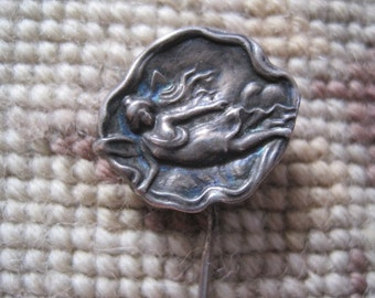 FREE SHIP Vintage Angel Girl Stick Pin Hat Pin Brooch