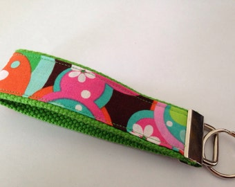Key fob wristlet in lime green