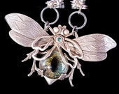 Steampunk Necklace Eye Necklace Large Bee Necklace