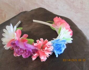 Flower Headband - Girls Flower Headband - Easter Headband - Flower Girl Headband