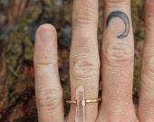 Quartz Crystal Gold Filled Ring
