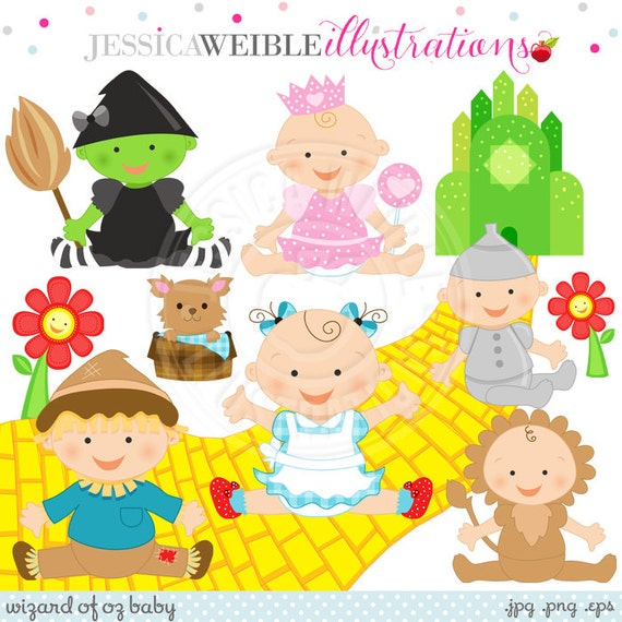 Wizard of Oz Baby Cute Digital Clipart Commercial Use OK
