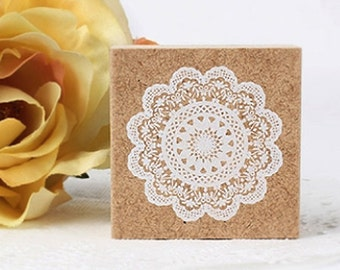 Flower Lace Doily Stamp - Ver.1 (1.8 x 1.8in)