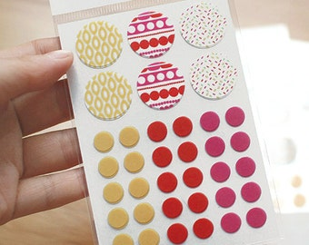 Circle Deco Masking Stickers - 08 Ice Cream (3 x 4.3in) 4 sheets