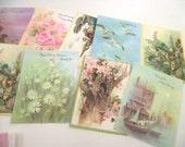 Vintage Unused Greeting Cards, 11 Cards and Envelopes