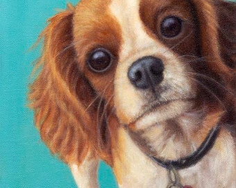 Cavalier King Charles Magnet - Large Vinyl Cavalier Spaniel Magnet - Expressive Animal Art - Dog Art - Proceeds Benefit Animal Charity