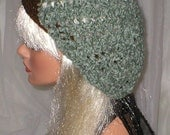 Crochet Women's Teens Lagoon Chenille Dark Choclate Slouchy Hat Beret Slouch Hat
