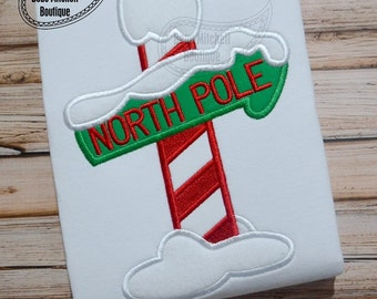 North Pole applique embroidery design
