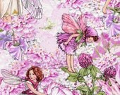 Pink Petal Flowers Fairies  - Michael Miller - 1 yard - More Available - BTY