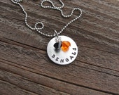 CLEARANCE SALE Cincinnati Bengals Hand Stamped Necklace