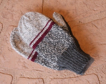 Big Kid's Mittens in Shades of Gray